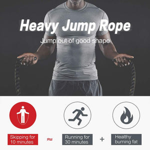 25mm Fitness Heavy Jump Rope Crossfit Weighted Battle Skipping Ropes Power Training Improve Strength Building Muscle Fitness - Mr. LuiGi Shop Online