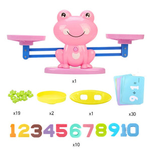Math Match Game Board Toys Monkey Cat Match Balancing Scale Number Balance Game Kids Educational Toy to Learn add and subtract - Mr. LuiGi Shop