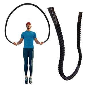 25mm Fitness Heavy Jump Rope Crossfit Weighted Battle Skipping Ropes Power Training Improve Strength Building Muscle Fitness - Mr. LuiGi Shop