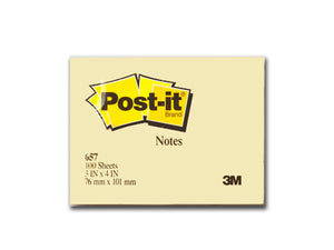 3M Post-It® Notes 3 in x 4 in, Yellow