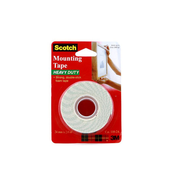 3M Double Sided Tape with Foam (Mounting Tape), 24mm x 2m