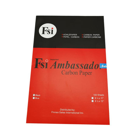 Ambassador Carbon Paper Long Black 100's