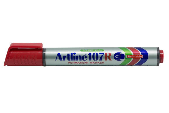 Artline Permanent Marker Refillable EK-107R 1.5mm Red