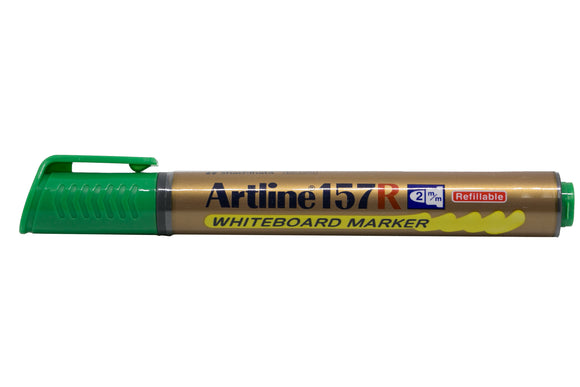 Artline Whiteboard Marker Refillable EK-157R 2mm Green