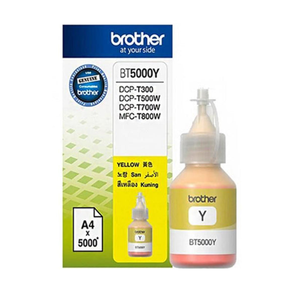 Brother BT5000 Yellow Ink Bottle