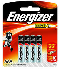 Energizer Battery AAA, 4's