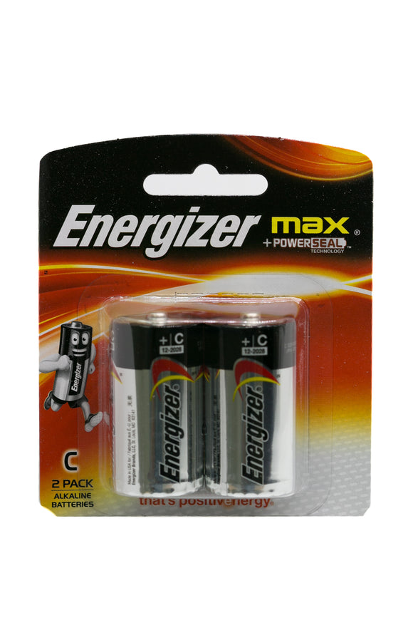Energizer Battery Size C, Pack of 2's