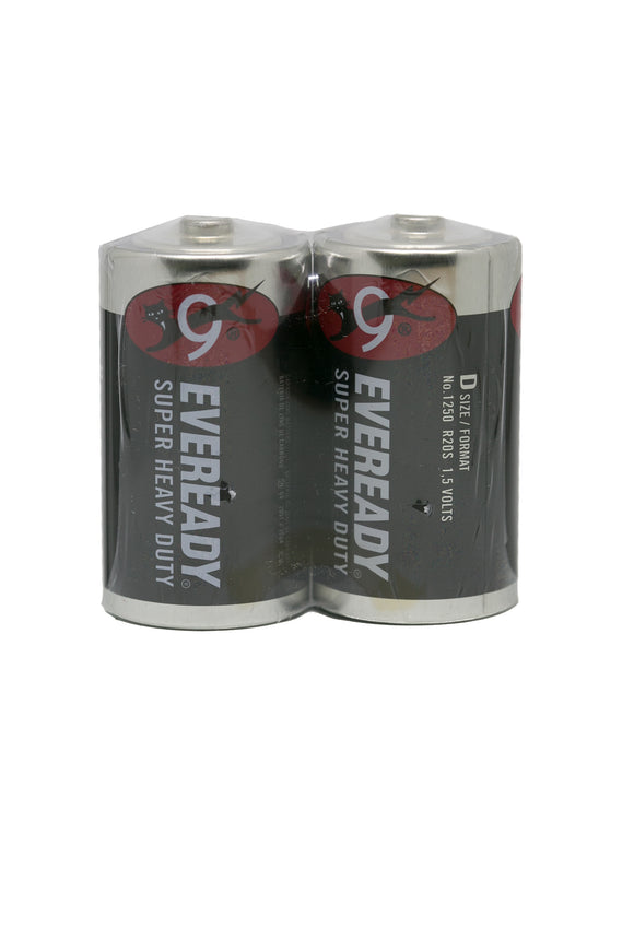 Eveready Battery Size D, Pack of 2's
