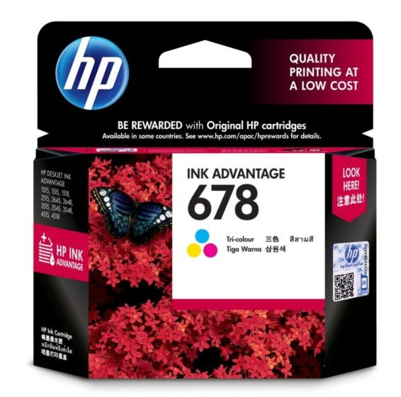 HP 678 Colored (Tri-Color) Ink Cartridge