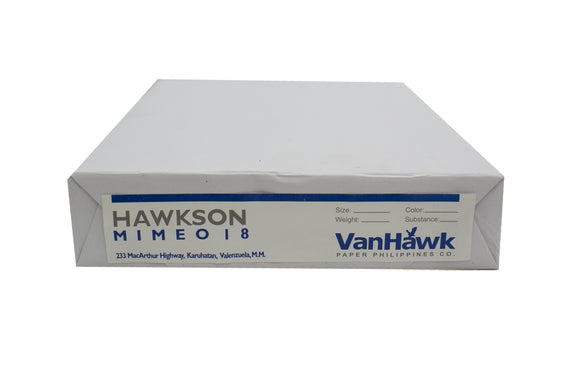 Hawkson Whitewove Mimeo Paper, Substance 18, Short