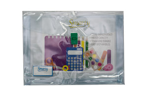 Smarty Expandable Plastic Envelope with Push Lock Clear, Short