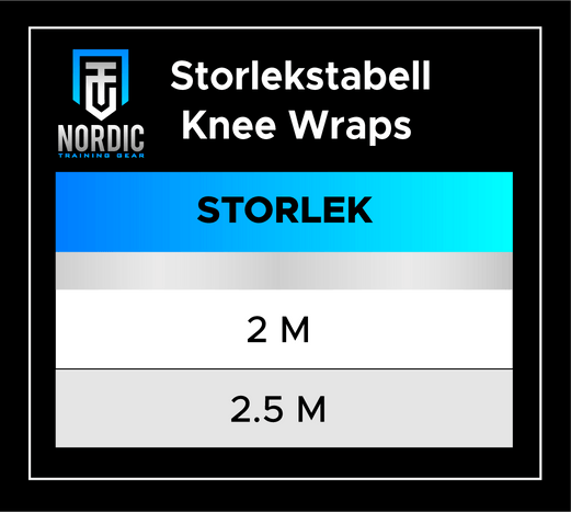 Storlekstabell - KNEE WRAPS
