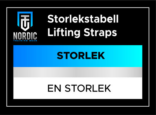 Storlekstabell - LIFTING STRAPS