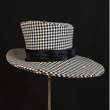 Load image into Gallery viewer, Borders Fedora - Houndstooth - Jonny Beardsall Hats