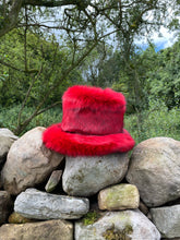 Load image into Gallery viewer, Red Madeleine Fedora - Jonny Beardsall Hats