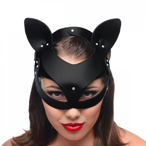 Master Series Bad Kitten Leather Cat Mask