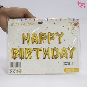 Happy Birthday Foil Aluminium Ballon