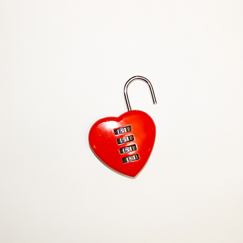Image of Heart-Shaped Password Lock