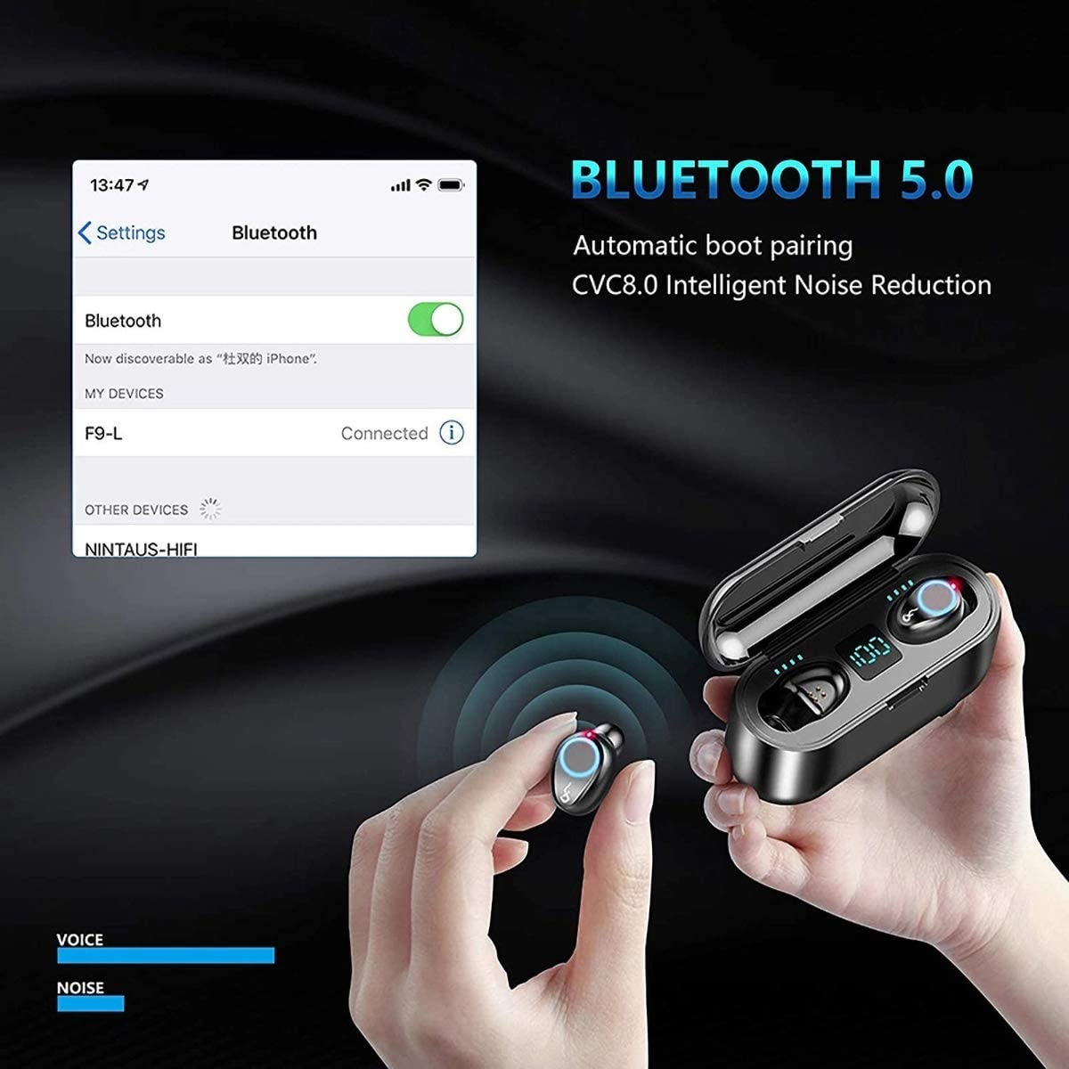 F9 Mini Bluetooth Earpad (6543877242914)