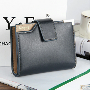 Mens Short Wallet with Buckle