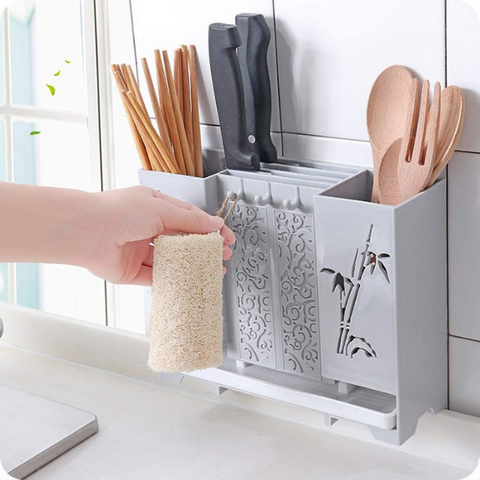 Wall Mount Storage Drain Rack