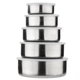 Stainless Steel Food Storage Box - Set of 5 (4852228653090)
