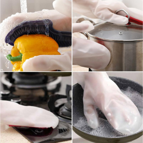 2 in 1 Dishwashing Gloves