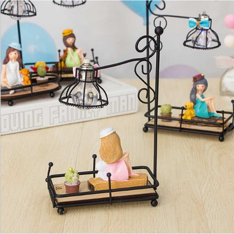Image of Sitting Girl Lamp Showpiece