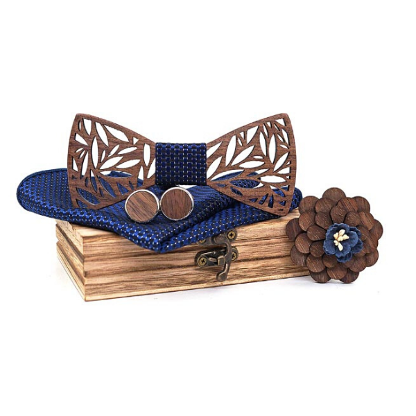 Wooden Bow Tie (4351675629602)
