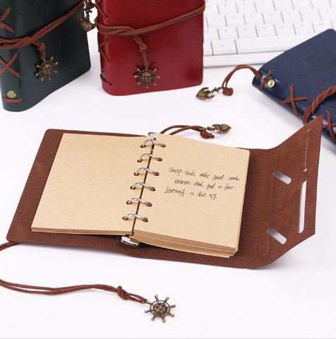Retro Pirate Ship Notebook