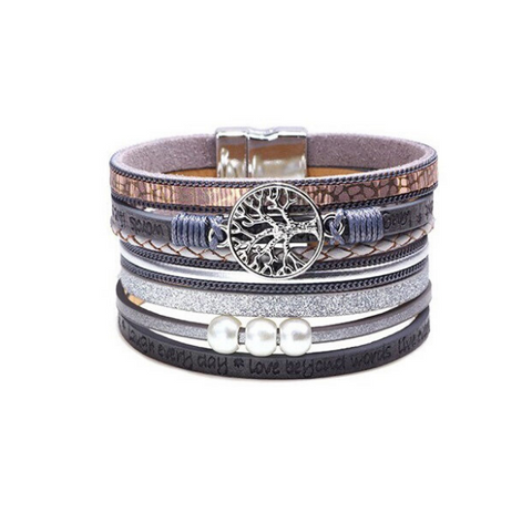 Image of Embossed Letter Bracelet