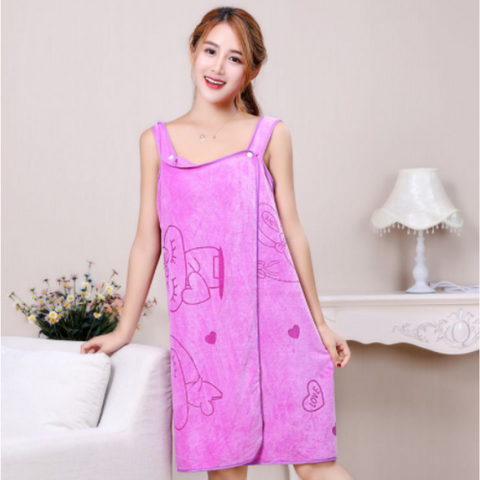 Womens Bath Skirt Towel