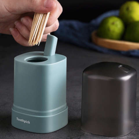 Auto Press Toothpick Box