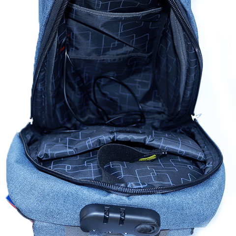 Password Lock Laptop Backpack