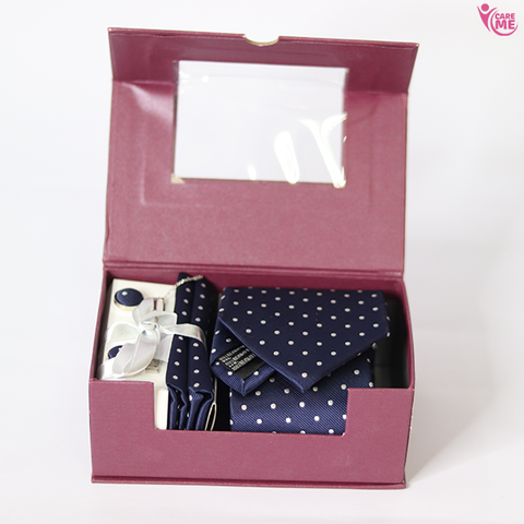 Image of Mens Tie Cufflink And Coat Pin Set