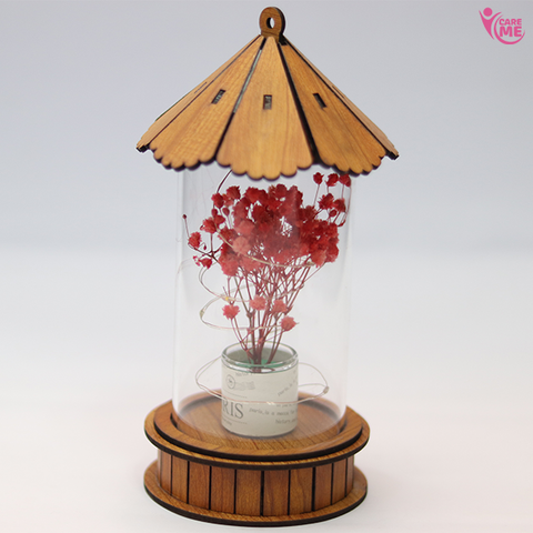 Dry Flower Wooden Lamp