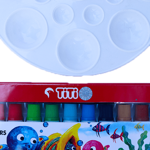 Water Color Set with Tray