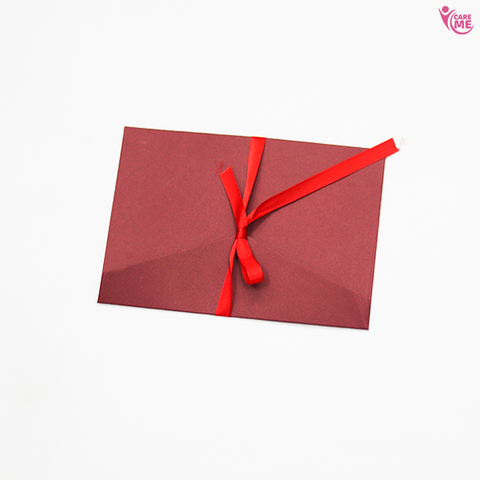Image of Blank Envelope with Red Ribbon (Set of4)