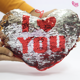 Sequin Heart Shape Pillow (4391082623010)
