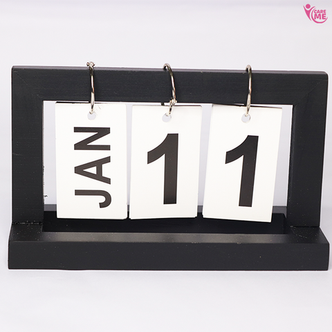 Image of Wooden Flip Calendar