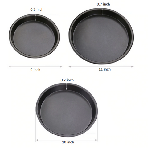 Image of Pizza Pan Set (Set of 3)