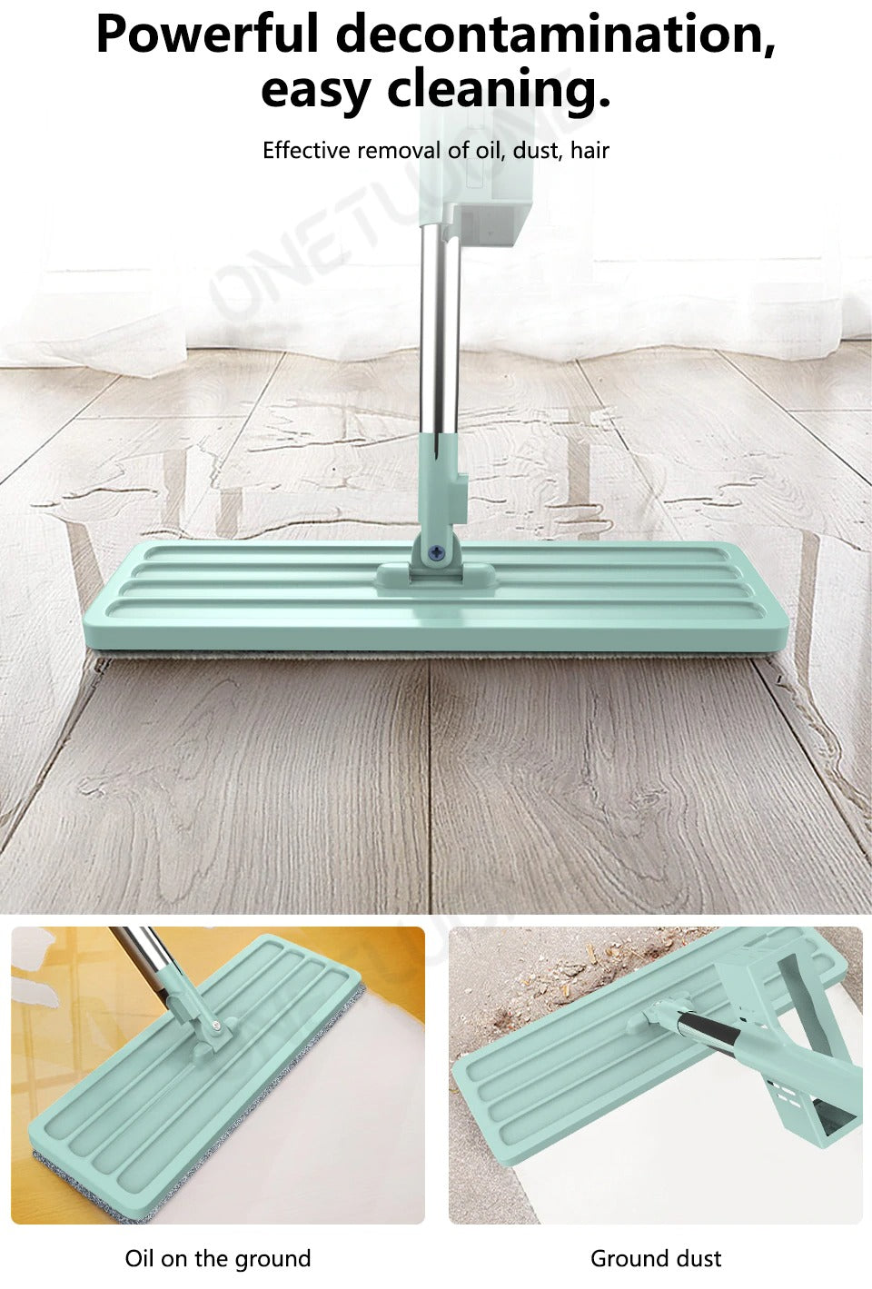 Hand-free Floor Cleaning Mop (6542522613794)