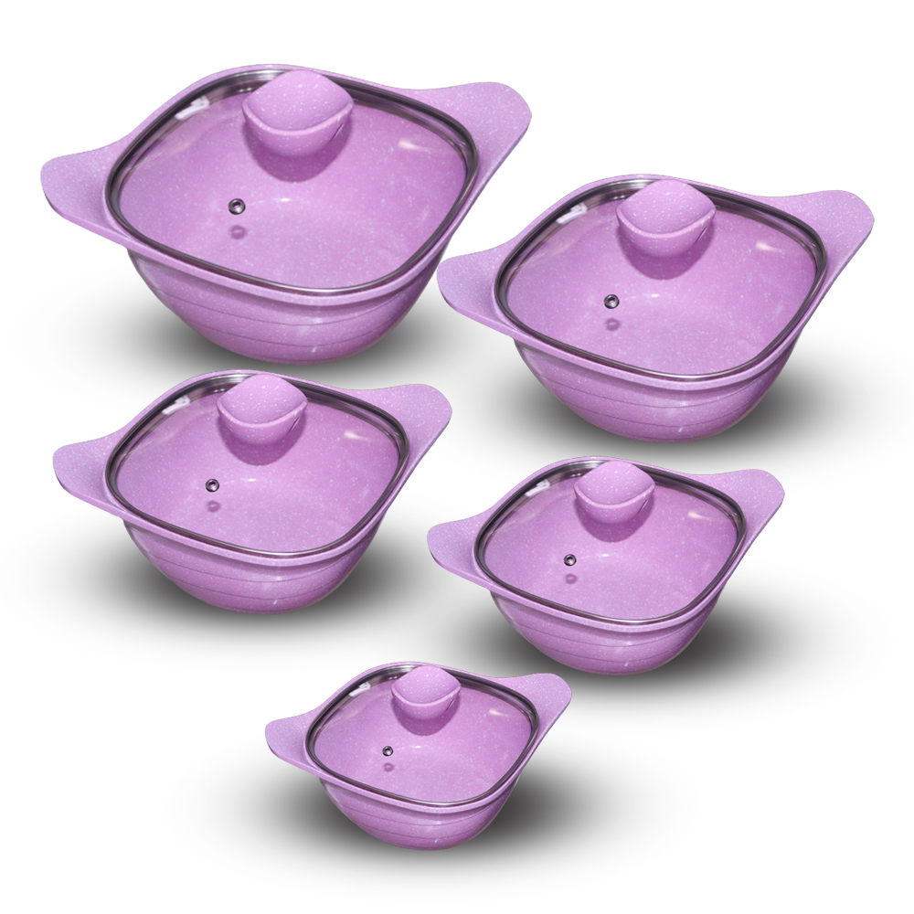 Jio Non Stick Mable Coating Cookware Set (4861867884578)