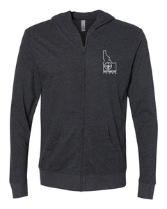 Lightweight Full-zip Idaho Stamp Hoody - Heather Charcoal