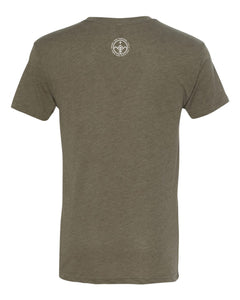 3IN1 Threads Idaho Topographic Tri-blend T-Shirt - Earth Green