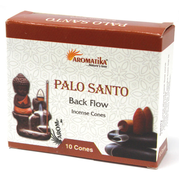 5 Packs  Back flow Incense Cones - Palo Santo-7 Chakras-Patcholi-Rose