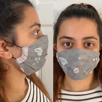 Face Mask UK, double faced and with filter , 100%Cotton Mask, facecloth - Body & Soul Wisdom