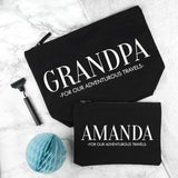 Personalised Daddy & Me Black Wash Bags - Body & Soul Wisdom