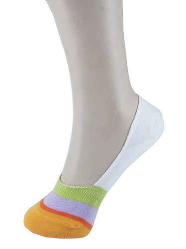 Invisible Liner Socks White Yellow Grey Women