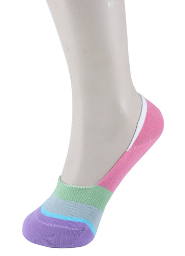 Invisible Liner Socks Pink Purple Green Women